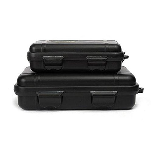 Doinshop NEW Outdoor Waterproof And Shockproof Storage Box Sealed Container Box (black, Small)