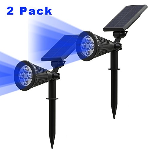 solar lights outdoor blue - 3