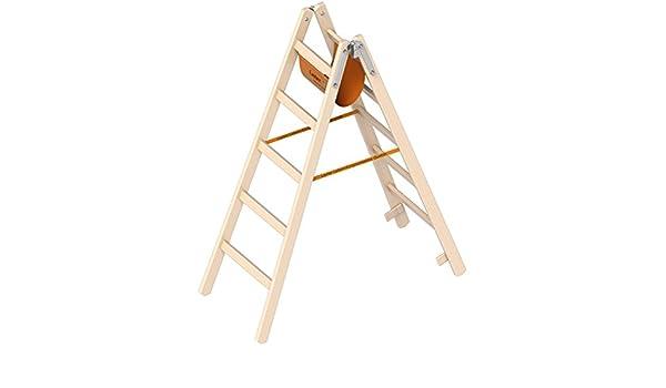Madera escalera de tijera Layher el Ö-Norm 1053 5 Layher Altura de trabajo de 2,80 m: Amazon.es: Bricolaje y herramientas