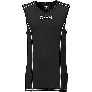Spalding Functional Camiseta de Entrenamiento, Hombre, Negro, 140