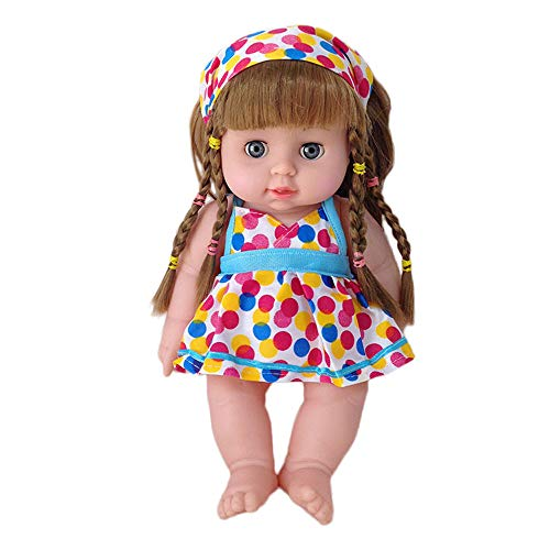 Meisiqw Toddler Baby Dolls Girl Eyes Open Real Life Cute Girl Dolls 12 Inch, Best Gift Toys for Kids Children (Hairstyles For African American Girls Ages 10 12)