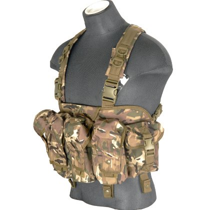 Lancer Tactical CAG ''Tora Bora'' Airsoft AK Chest Rig - CAMO by Lancer Tactical