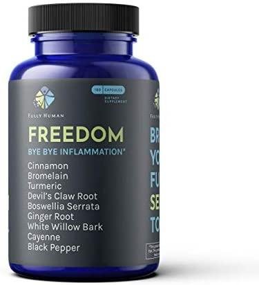 Freedom, Ultra Absorptive Anti-Inflammation Formula, Includes Cinnamon, Bromelain, Turmeric, Devils Claw, Boswellia, Ginger Root, White Willow and Cayenne