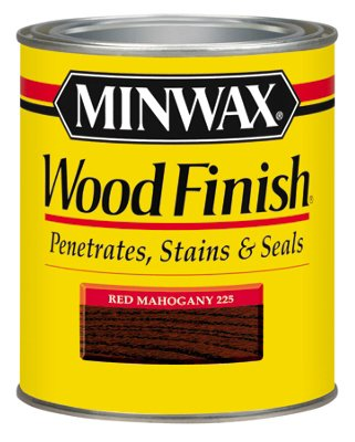 Minwax 22250 1/2 Pint Red Mahogany Wood Finish Interior Wood Stain