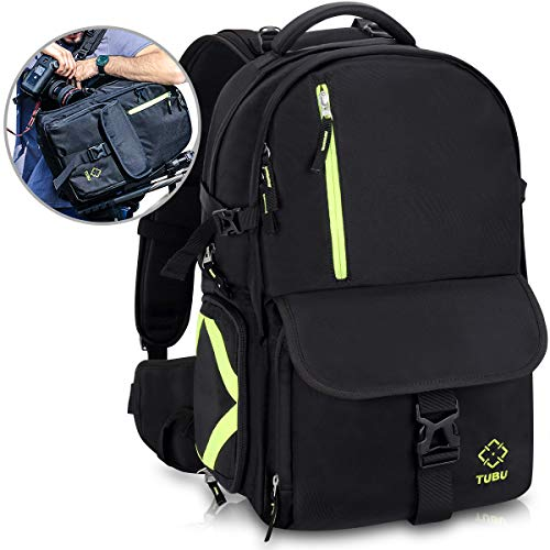 (Endurax Camera Backpack Waterproof with Quick Access Dual Compartments Fit 2 DSLR Cameras 4-6 Lenses and 15.6