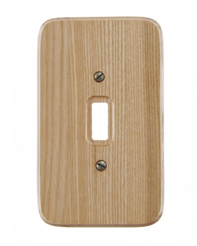 Amerelle 196T 1-Gang Natural Toggle Switch Wall Plate, ()