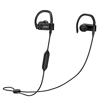 Mpow D2 Bluetooth Headphones up to 16 Hours Playback, Ipx7 Waterproof Wireless Earbuds Sport Headphones With Remote and Mic, Secure Fit for Gym Running Workout