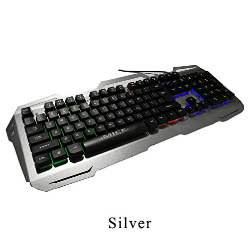 Amazon.com: Best Quality Mechanical Feel Gaming Keyboard with Russian Sticker Wired Metal Base led Backlit Desk teclado Keyboard Gamer for csgo Dota 2: ...