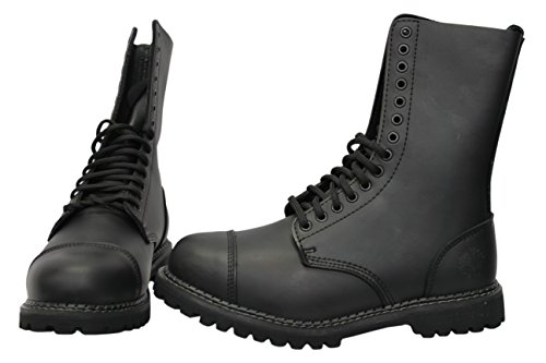 Quality Holes CS Black Style Leather Cap Combat Real Uniform Grinders Military Boots Toe Finish Shoes 14 Matte Derby Womens Herald High Safety Casual Steel SwqxBOFU