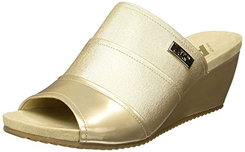 Anne Klein Womens Chanay Fabric Open Toe Casual Slide, Light Natural, Size 5.5