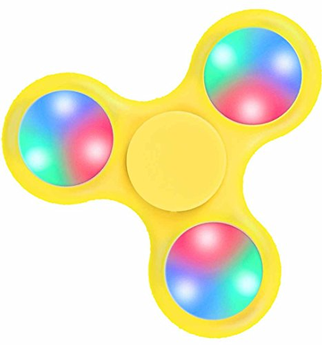 Fidget Spinner High Speed Yellow Light Up Weights Relief (Tron Costume Light Up)