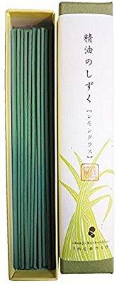 淡路梅薫堂のお香 精油のしずく レモングラス 9g 精油 アロマ スティック #184 ×20 japanese incense sticks B01MA1RZ4A