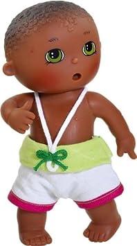 Amazon.es: Paola Reina - Quique, muñeco bebé negrito, de Vinilo, 22 cm (23566): Juguetes y juegos