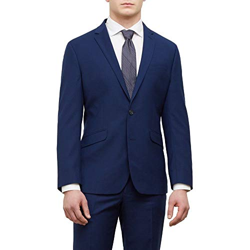 Kenneth Cole REACTION Men's Techni Stretch Slim Fit Suit Separate (Blazer, Pant, and Vest), Modern Blue, 48 Regular by Kenneth Cole REACTION