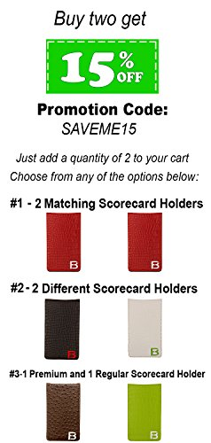 Fuzzy Bunkers Golf Scorecard Holder and Yardage Book Cover PLUS Free Golf Pencil and Downloadable PDF Stat Tracker Sheet by (Red) by VEBE (Image #6)