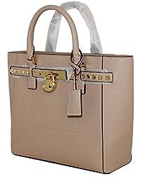 Women's Hamilton Traveler STUDDED Large TOTE Leather Handbag