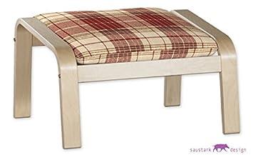 Saustark Design saustark design edinburgh cover for ikea poäng alme stool
