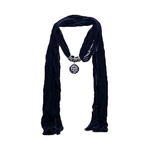 TRILLAIRE Colgante de bufanda azul marino