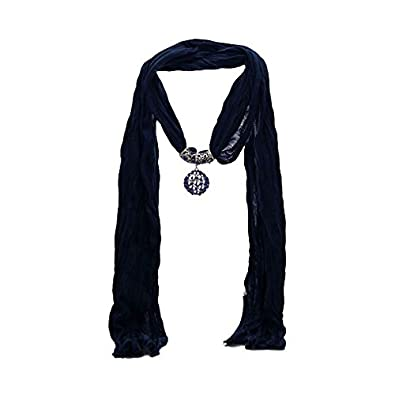 Amazon trillaire navy blue scarf pendant jewelry trillaire navy blue scarf pendant aloadofball Choice Image