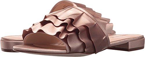 (Nine West Women's IVARENE Satin Luxe Flat Sandal, Light Natural 8.5 Medium US)