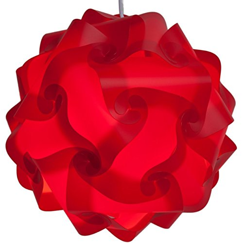 Lightingsky IQ Lamp Shade Toy Self DIY Assembled Puzzle Lights for Room Decoration (Red, XL-18 inch)