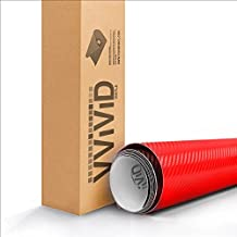 Red 3D Carbon Fiber Vinyl Wrap Roll With VViViD XPO Air Release Technology - 1ft x 5ft