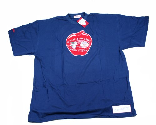 Mitchell and Ness 1977 All Star Game Yankee Stadium T-Shirt XX-Large Blue