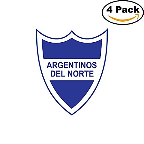 Club Atletico Argentinos del Norte de San Miguel de Tucuman Argentina Soccer Football Club FC 4 Stickers Car Bumper Window Sticker Decal (San Miguel Salt)
