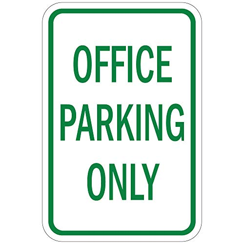 New PVC, and Novelty Signs by Silk@Road-Weatherproof-Size 12''x18'' for Outdoor Use (Office Parking Only) by Silk@Road