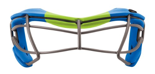 STX Lacrosse Girl's Rookie Dual Sport Goggles, Pacific Blue/Lime Green