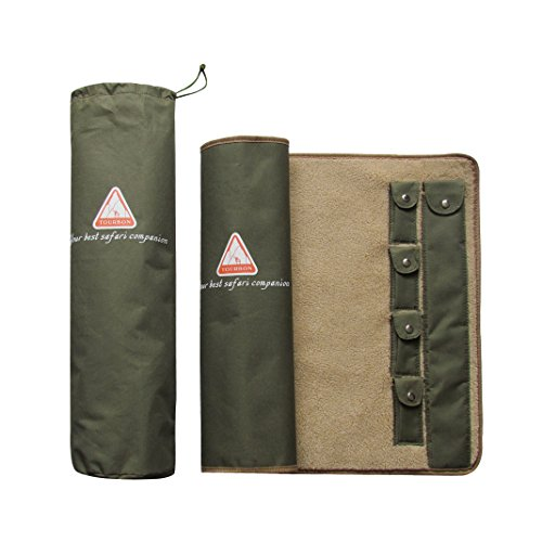 Tourbon GUN Rifle Roll-up Cleaning MAT Pad Shooting Hunting GUN Tool Kit Fleece Lined – Green – DiZiSports Store
