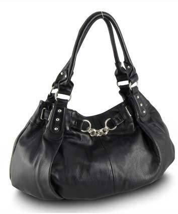 Large Slouchy Hobo Handbag (Black-old), Bags Central