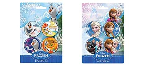 Disney Frozen 8 pc Pin Set
