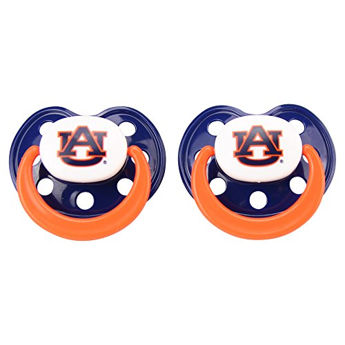 (Baby Fanatic NCAA Auburn Tigers Unisex UAB112NPacifier (2 Pack) - Auburn University, See Description, See Description)