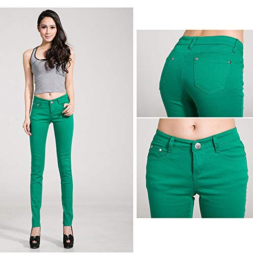 Vert Slim Jeans Arbre Hee Femme Grand 8qIwxT5E