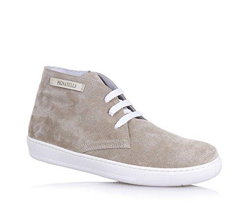 CARLO PIGNATELLI - Beige Schuh mit Schnürsenkeln, aus Wildleder, made in Italy, eleganter und feiner Stil, Jungen