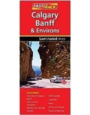 Calgary, Banff, & Environs - Fast Track - laminated map