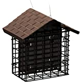 Stokes Select Suet Bird Feeder, Two Cake Suet Buffet with Weather Guard Roof