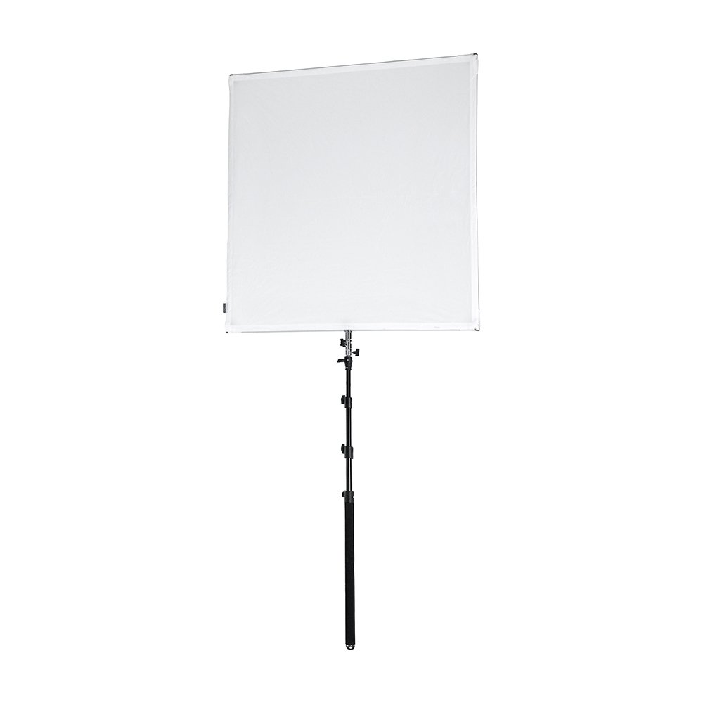 Pro Studio Solutions 122cm x 122cm (4ft x 4ft) Sun Scrim - Collapsible Frame Diffusion & Silver/White Reflector Kit with Boom Handle and Carry Bag by Fotodiox