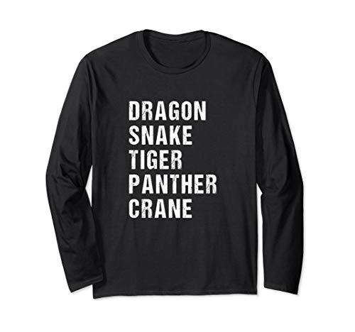 Long Sleeve Five Animals Kung Fu Shirt