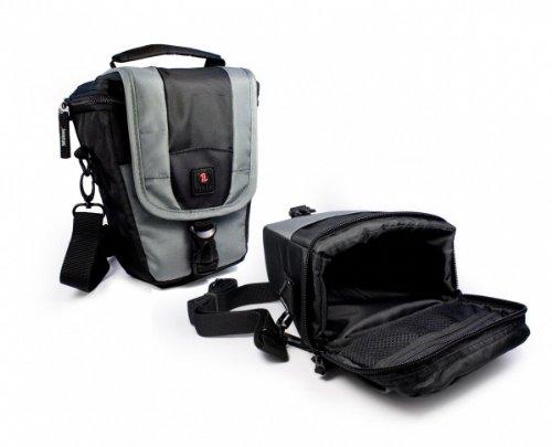 Tuff-Luv 'ZipNGo' Foto/Video-Equipmenttasche für Digitale Spiegelreflex & Short Zoom Kameras in der Größe: 2 / Farbe: Grau / Kompatibel mit (Sony Alpha a100, a200, a290, a390, a330, a500, a550, a700, a850, a900, a350 / HX500, HX60, HX300, HX50, H300, H200, H20, HX100 / WX350, WX220, W830, W810, W800, W200, W80 / RX1R, RX10, RX100 / A6000, A5000, A65, A58, A3000, A77, A7, A7R, A7E, A99, A450, A55, A35, A33, A580, A560, A57, A37)