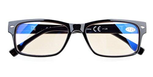 Anti Blue Rays,Reduce Eyestrain,UV Protection,Spring Hinges,Computer Reading Glasses Men Women