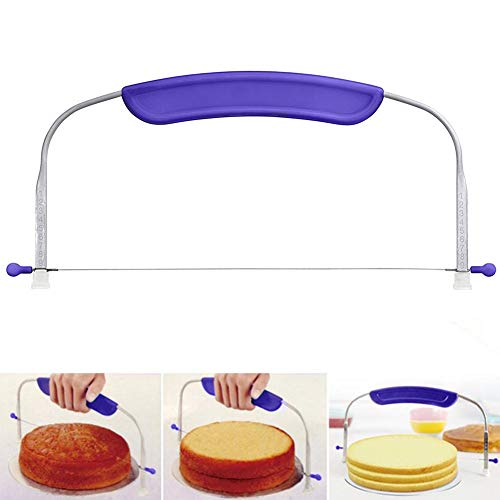 Cake Leveler Adjustable Cake Slicer Cutter Layer Cake Decorating Leveler Wires Layer Cutter Slicer Stainless Steel Wires and (Best Wire For Cake Slicers)