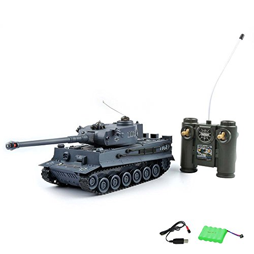 German Tiger I - RC ferngesteuerter Panzer Tank Militär-Fahrzeug Modell, Gefechtmodi, Schusssimulation, Sound und Beleuchtung, Komplett-Set