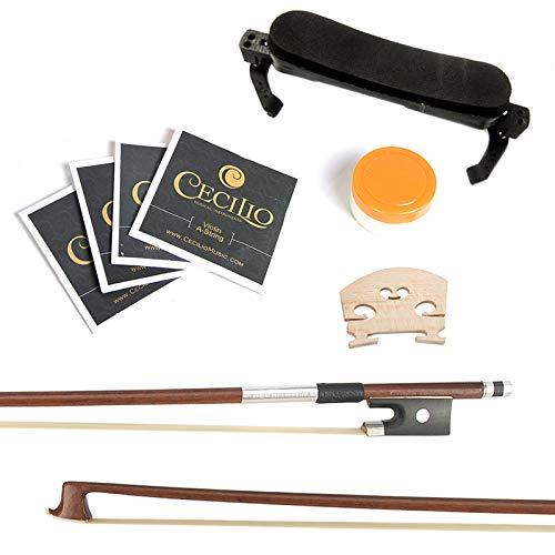 Mendini 4/4 MV300 Solid Wood Satin Antique Violin with Hard Case,...