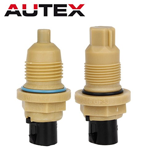 AUTEX 2PCS A604 40TE 41TE 41TES 42LE A604 A606 Transmission Solenoid Input & Output Speed Sensor Compatible With Chrysler 1989-Up