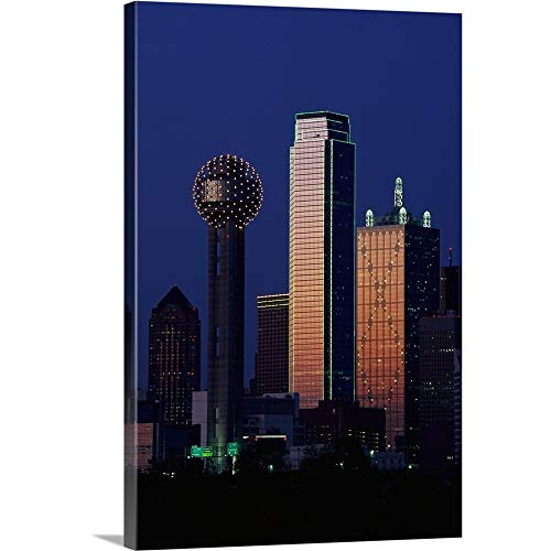 - Solid-Faced Canvas Print Wall Art Print Entitled Reunion Tower Dallas TX 20