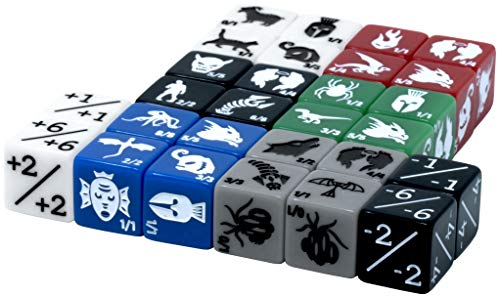 Monster Rocks: 28 Magic The Gathering Token dice Collection. 9 Different die molds