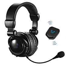 HUHD Premium Optical 2.4G Wireless Vibration Gaming Headset Headphones Stereo Earphone with Detachable Microphone for Xbox One, Xbox 360, PS4, PS3, Wii, Mac, PC, TV