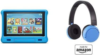 Fire HD 10 Kids Tablet 32GB Blue with Poptime (Ages 8-15) Bluetooth Headset
